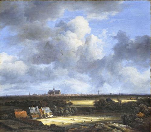 Jacob Van Ruisdael. Vue de Haarlem avec herberies (1670-75)