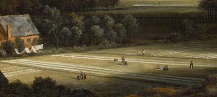 Jacob Van Ruisdael. Vue de Haarlem avec herberies, détail. Les herberies.