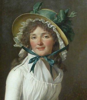Jacques-Louis David. Portrait d'Émilie Sériziat et son fils, détail