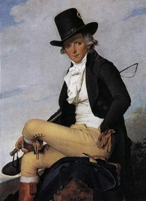 Jacques-Louis David. Portrait de Pierre Sériziat (1795)