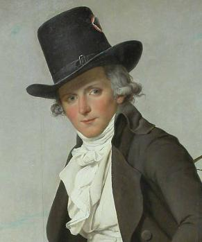Jacques-Louis David. Portrait de Pierre Sériziat, détail