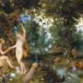 Jan Brueghel de Velours et Pierre Paul Rubens. La chute de l'homme (v. 1615)