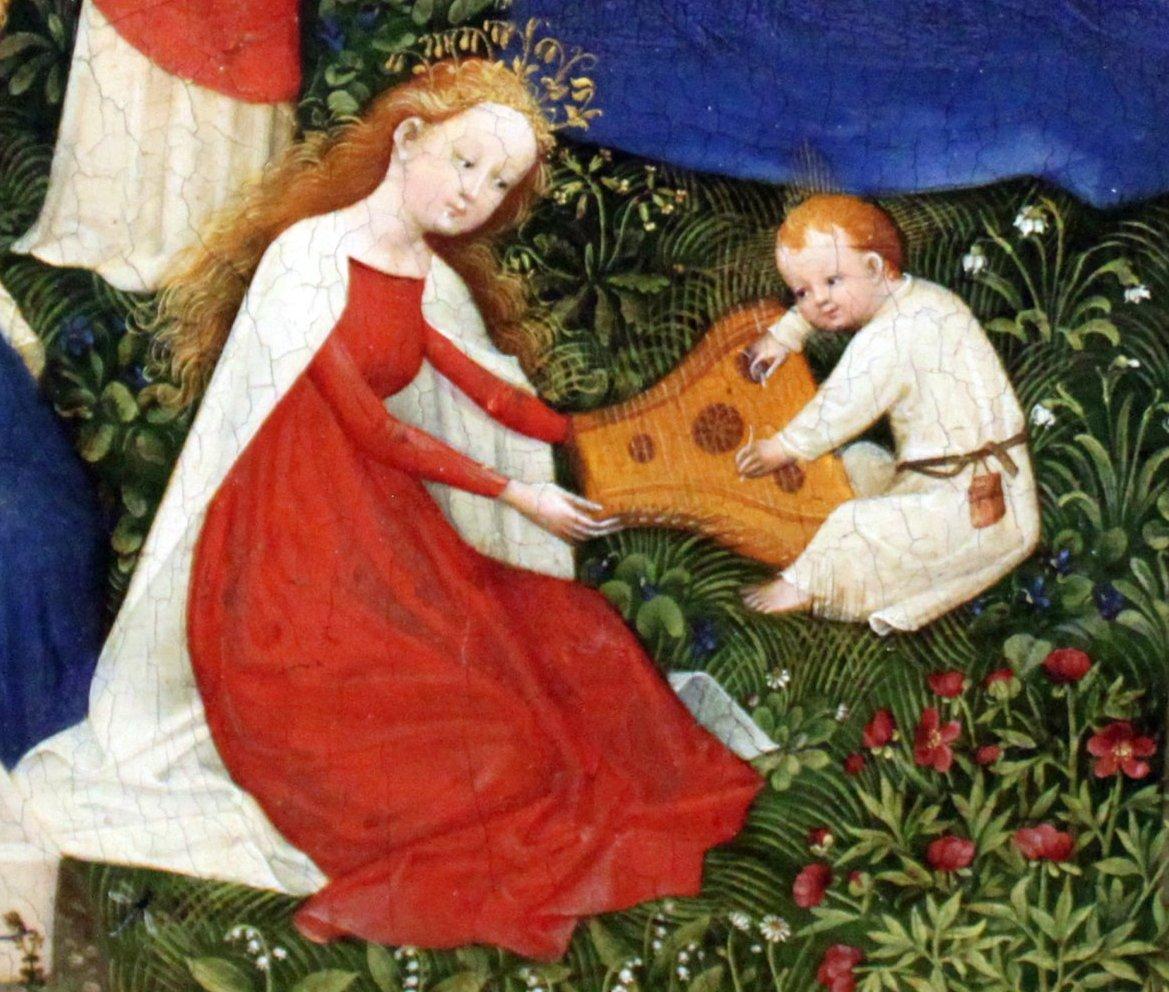 le jardin de paradis ou paradiesg rtlein v 1410 20. Black Bedroom Furniture Sets. Home Design Ideas