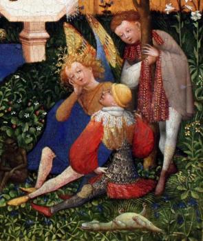 Jardin de Paradis. Les trois saints