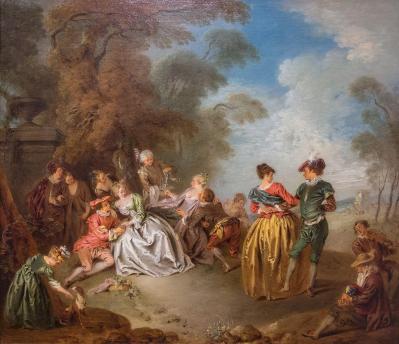 Jean-Baptiste Pater. Le Repos dans le parc (v. 1728)