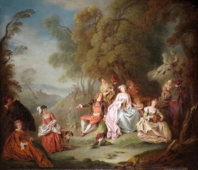 Jean-Baptiste Pater. Fête champêtre (v. 1730)