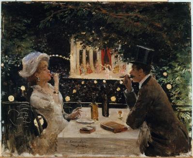 Jean Béraud. Dîner aux Ambassadeurs (v. 1880)