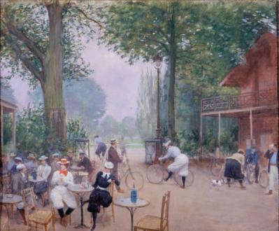 Jean Béraud. Le Chalet du Cycle au bois de Boulogne (v. 1900)