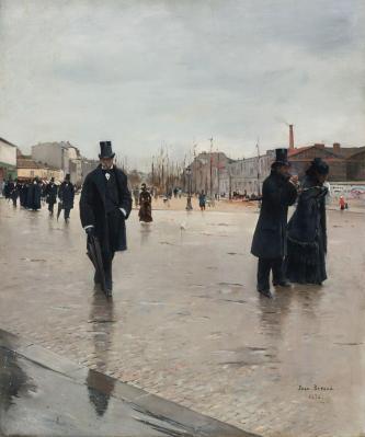 Jean Béraud. Le Retour de l'enterrement (1876)