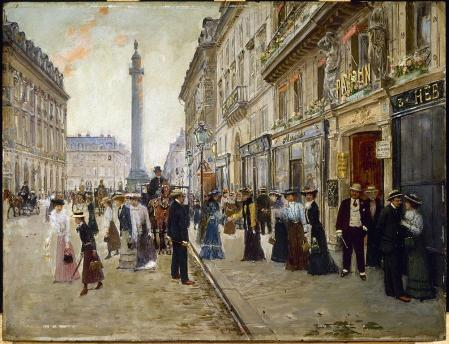 Jean Béraud. Sortie des ouvrières de la maison Paquin (v. 1900)