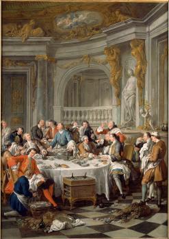 Jean francois de troy le dejeuner d huitres 1735