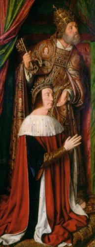 Jean Hey. Triptyque de Moulins, aile gauche (1500-01)