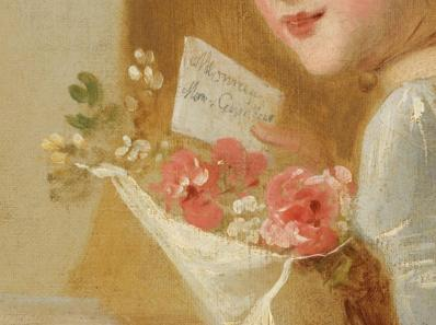 Jean-Honoré Fragonard. La lettre d'amour, détail