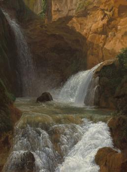 Jean-Joseph-Xavier Bidauld. Vue des cascades à Tivoli (1788)