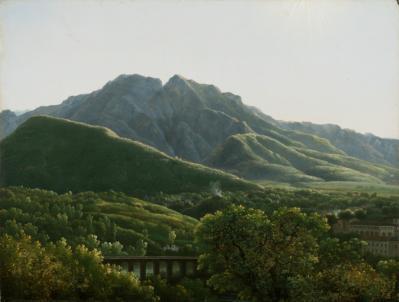 Jean-Joseph-Xavier Bidauld. Vue du pont et de la ville de Cava (1785-90)