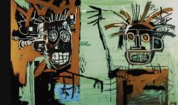 Jean-Michel Basquiat. Deux têtes sur or (1982)