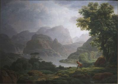Jean-Pierre Péquignot. Paysage des environs de Cava dei Tirreni (1803)