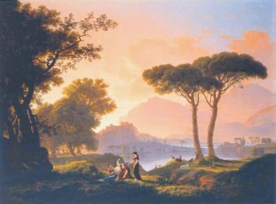 Jean-Pierre Péquignot. Paysage napolitain. Le soir (1800)