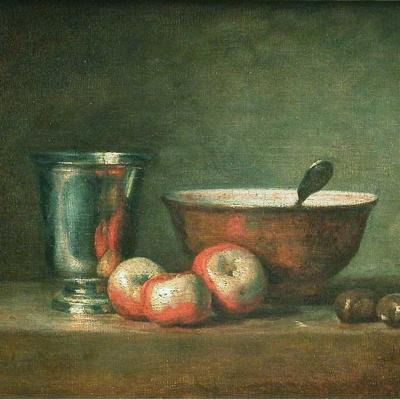 Jean-Siméon Chardin. Le gobelet d'argent (v. 1768)