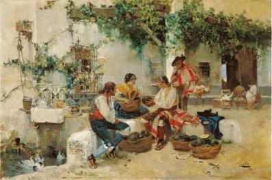 Joaquín Sorolla. La vente des melons (1890)