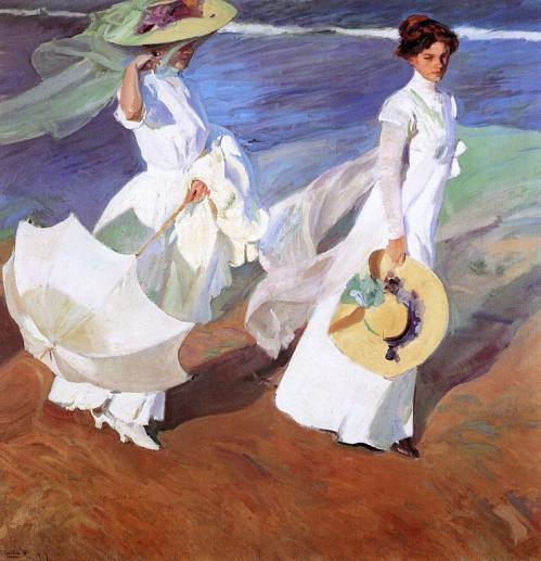 Joaquín Sorolla. Promenade au bord de la mer (1909)