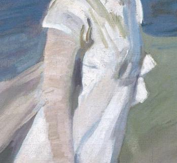 Joaquín Sorolla. Promenade au bord de la mer, détail
