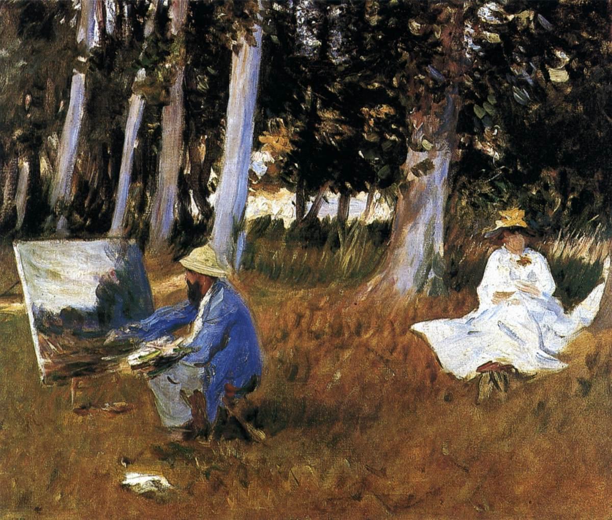 Ca s'est passé en avril ! John-singer-sargent-claude-monet-peignant-a-la-lisiere-d-un-bois-1885