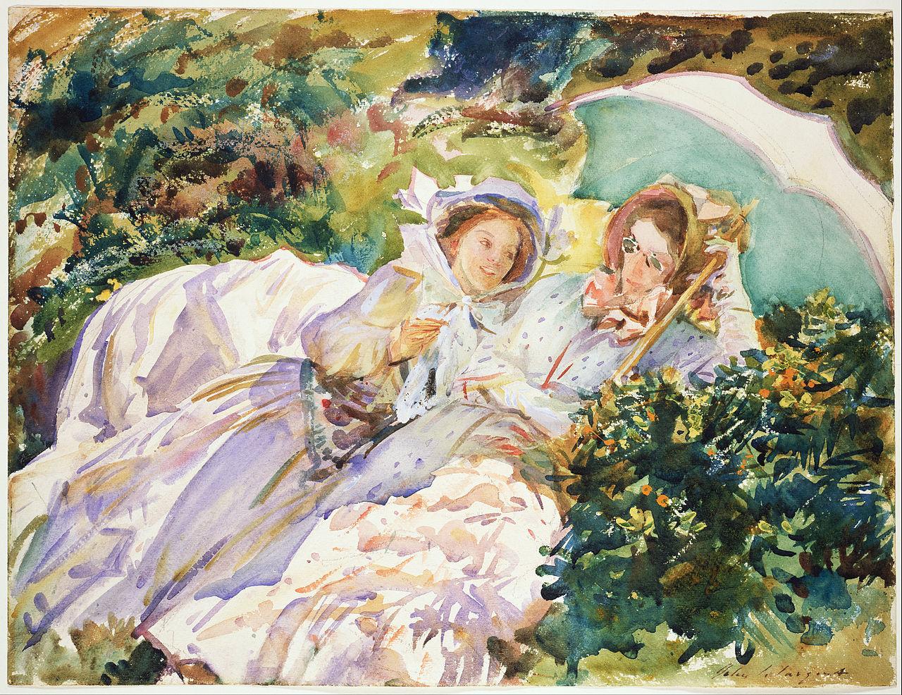 Ca s'est passé en avril ! John-singer-sargent-col-du-simplon-lecture-1911