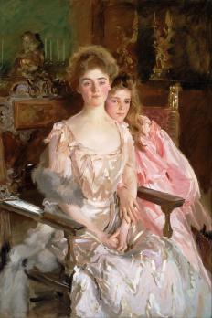 John Singer Sargent. Mme Fiske Warren (Gretchen Osgood) et sa fille Rachel (1903)