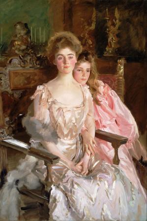 John Singer Sargent. Mme Fiske Warren (épouse Osgood) et sa fille Rachel (1903)