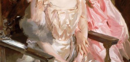 John Singer Sargent. Mme Fiske Warren et sa fille Rachel, détail (1903)