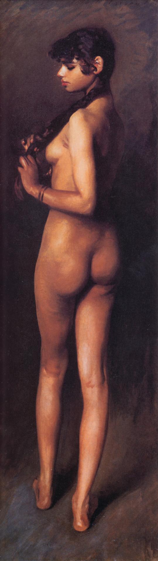 Ca s'est passé en avril ! John-singer-sargent-nu-d-apres-nature-jeune-fille-egyptienne-nue-1891