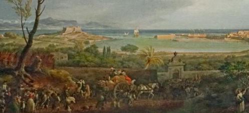Joseph Vernet. Le Port d'Antibes, détail