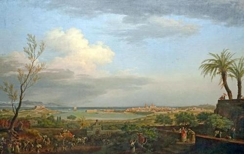 Joseph Vernet. Le Port d'Antibes en Provence, vu du côté de la terre (1756)
