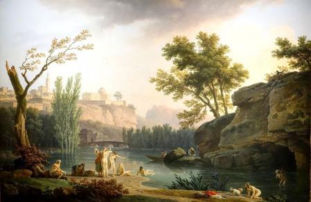 Joseph Vernet. Soir d'été, paysage d'Italie (1773)