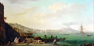 Joseph Vernet. Vue de Naples avec le Vésuve (1748)