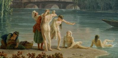 Joseph Vernet. Soir d'été, paysage d'Italie, détail