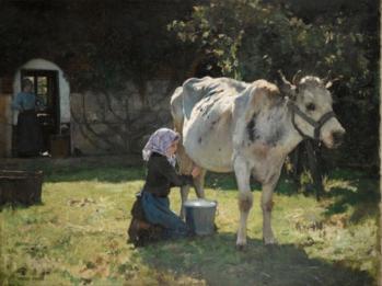 Julien Dupré. La vache blanche (v. 1890)