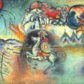 Kandinsky. Saint Georges et le dragon (v. 1915)