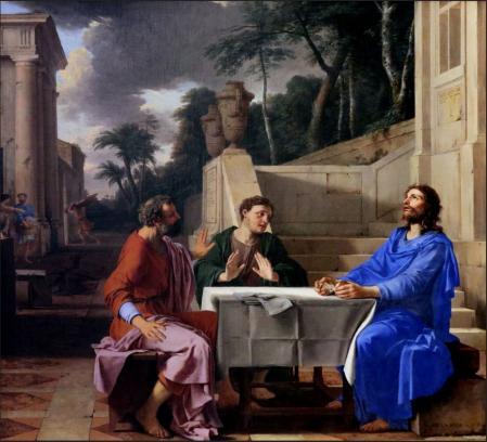 Laurent de la Hyre. L'Apparition du Christ aux pèlerins d'Emmaüs (1656)