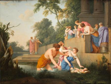 Laurent de la Hyre. Moïse sauvé des eaux (1647-50)