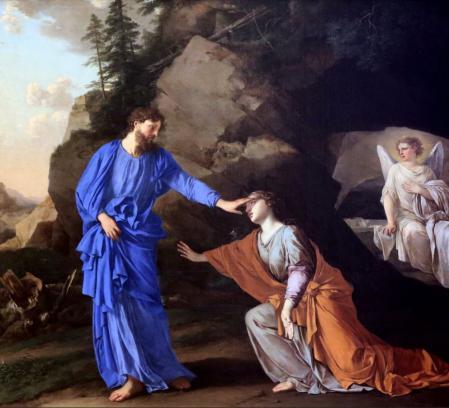 Laurent de la Hyre. Noli me tangere ou L'Apparition du Christ à sainte Madeleine (1656)