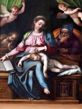Lavinia Fontana. Vierge du Silence (1580-1600)