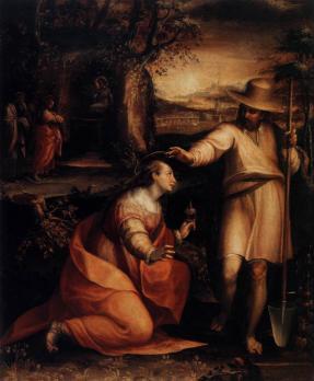 Lavinia Fontana. Noli me tangere (1581)