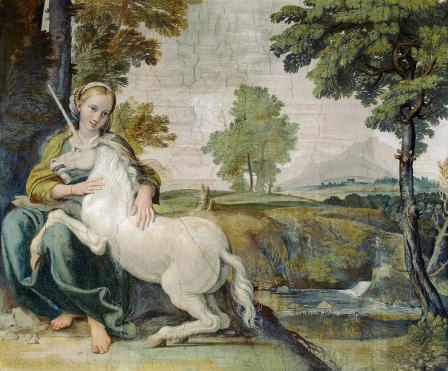 Le Dominiquin. La jeune fille à la licorne (v.1604-05)