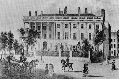 Le palais Lubomirski à Vienne vers 1840