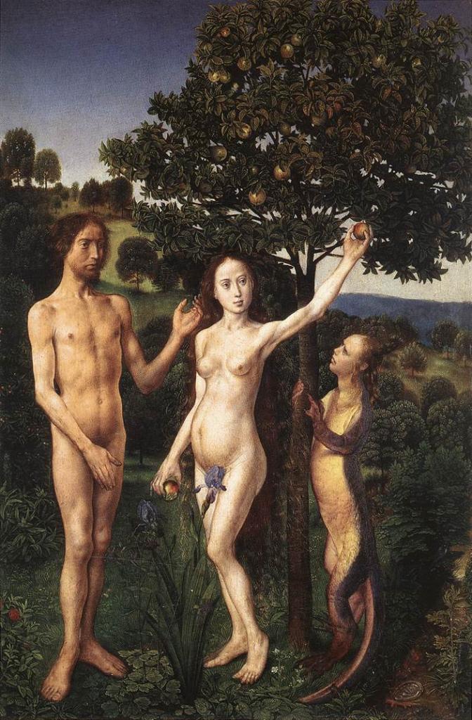 Van der Goes. Le péché originel (1467-68)