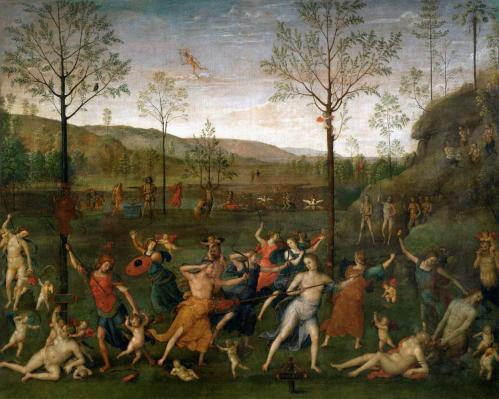 Le Pérugin. Le Combat de l'Amour et de la Chasteté (1503)