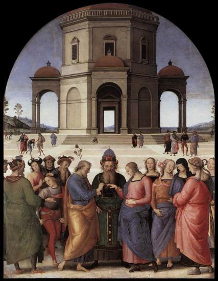 Le Pérugin. Le mariage de la Vierge (1500-04)