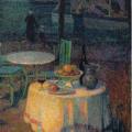 Le Sidaner. Le café du port, Le Croisic (1923)